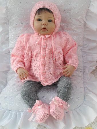 Strickanleitung Babygarnitur Sonia Gr 5662 3 Teilig