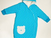 NEVIO Baby outdoor sleep sack pattern lined with cuffs + hood. Kids sleeping bag Ebook PDF sizes 0M to 4Y by Patternforkids