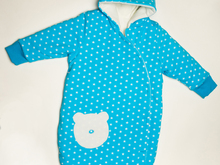 NEVIO Baby outdoor sleep sack sewing pattern lined with cuffs + hood
