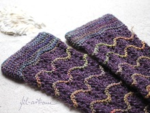 "Wrist Warmers ""EBBE & FLUT"", knitting pattern, 2 sizes"