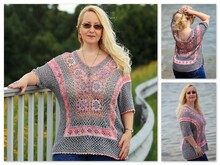 Crochet pattern tunic / shirt Flower Power