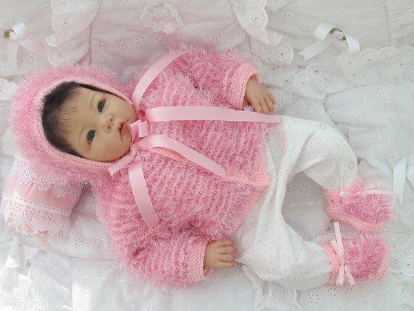 Strickanleitung Babygarnitur Modell Peper Gr 56 Für Baby