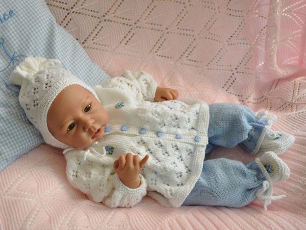 Strickanleitung Babygarnitur 3 Teilig Modell Bambam Gr 4850 Für