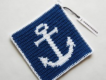 Anchor Potholder Crochet Pattern - for beginners