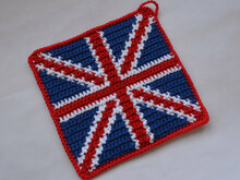 Union Jack Potholder Crochet Pattern - for beginners
