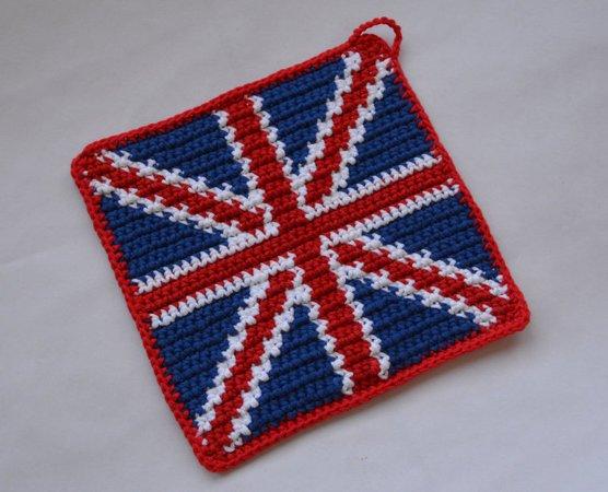 Union Jack Potholder Crochet Pattern For Beginners