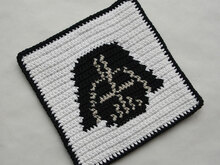 Darth Vader Potholder Crochet Pattern - for beginners