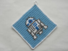 R2D2 Potholder Crochet Pattern - for beginners