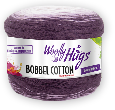 "Tuch ""Team-Player"" mit 1 Woolly Hugs BOBBEL-COTTON stricken"