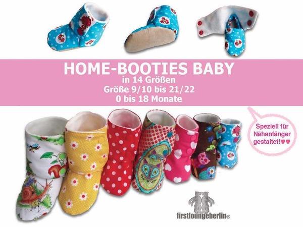 Home Booties BABY Hausschuhe in 14 Größen E Book Nähanleitung 0 bis 18 Monate Nähanleitung & Schnittmuster von firstloungeberlin