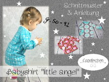 E-Book Schnittmuster Babyshirt little angel 50-92