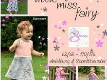 E-Book Schnittmuster Kleid little miss fairy 62-176