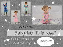 E-Book Schnittmuster Babykleid little rose 50-92