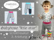 E-Book Schnittmuster Babyhose little star 50-92
