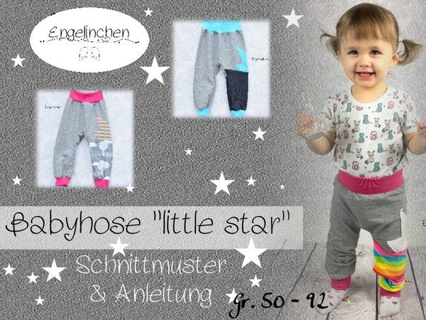 12135ac9cb E-Book Schnittmuster Babyhose little star 50-92