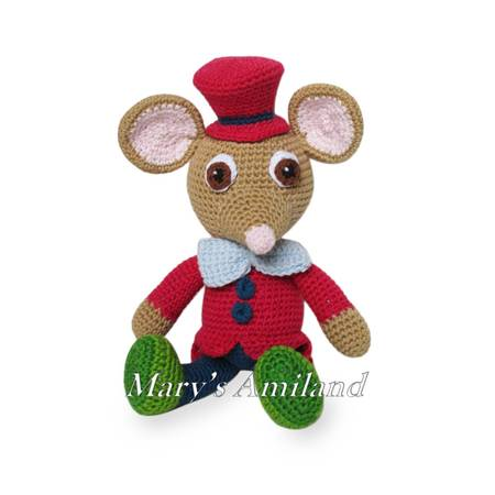 Oscar Mouse The Ami - Amigurumi Crochet Pattern