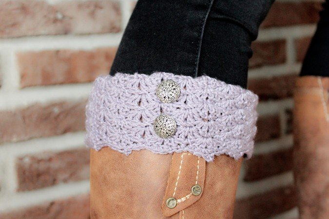 Crochet Pattern Boot Cuffs Mila For Beginner
