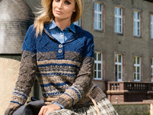 Gestrickter Polopullover Suoma