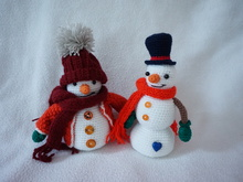 christmas snowman crochet pattern