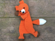 Amigurumi Doll Fox Lovey Crochet Pattern Crochet Toy