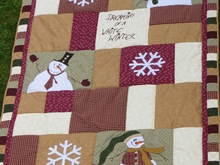 "Patchwork Kniedecke  ""Dreaming of a white Winter"""