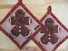 "Patchwork Topflappen ""Gingerbread"""