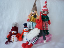 Christmas home decoration crochet pattern (Doll,Gome,Elf,Snowman)