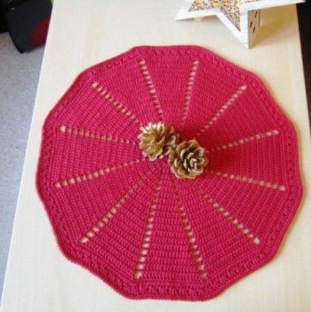 Häkelanleitung für rundes Deckchen / Platzdeckchen # Christmas #