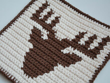 Deer Potholder Crochet Pattern - for beginners