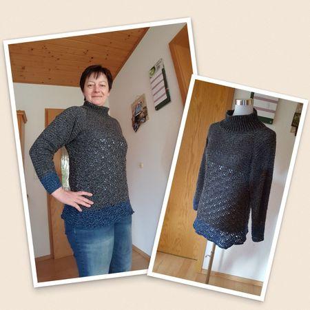 Pullover häkeln /// anfängertaugliches Muster
