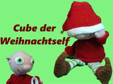 Cube the Xmas Elf, Crochet pattern, christmas pattern