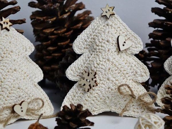 Dekoration Weihnachtsbaum.Tannenbaum Weihnachtsbaum Dekoration Häkelanleitung