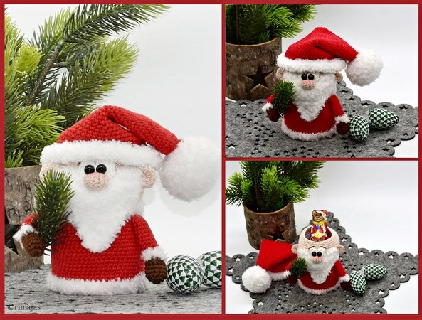 Weihnachtsmann Häkeln Befüllbar Deko Diy