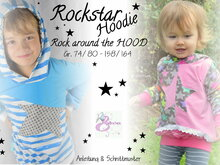 E-Book Schnittmuster Rockstar Hoodie Rock around the hood 74-164