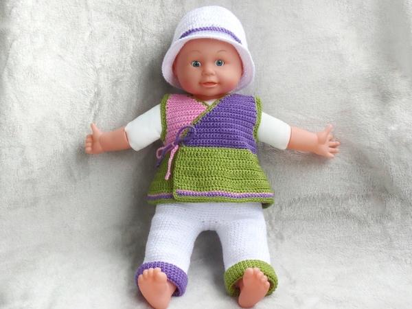 Puppenkleidung 40 Cm Häkeln Wickeltop Hose Hut