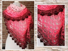 "triangular shawl ""Cupcake"" with beautiful border"