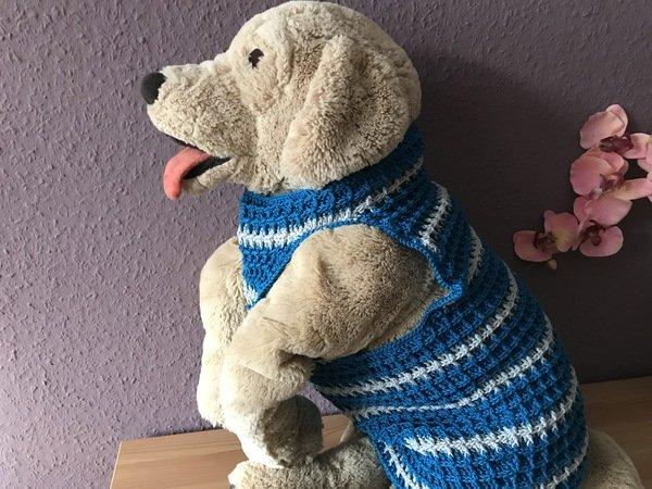 Häkelanleitung für Hundepullover