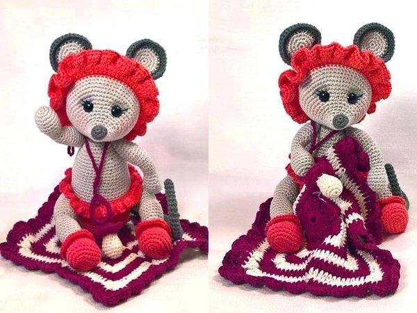 Maus häkeln // Baby-Maus häkeln /// DIY-Tiere
