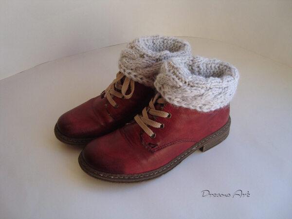 Strickanleitung Boot Cuffs - Stiefel Manschetten BC151101