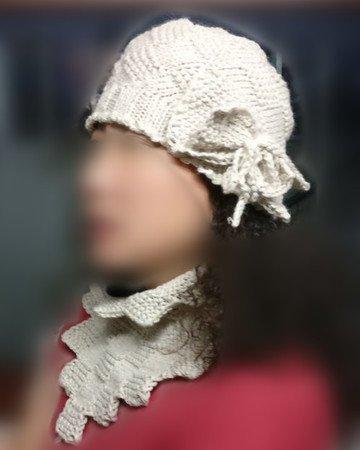 Strickanleitung - elegante Mütze mit Karo-Muster