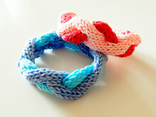 "Knitted bracelet ""The Waves of Sea and Love"""