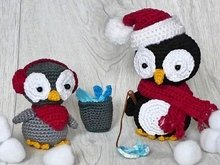 Papa Penguin and Pietje - Amigurumi Crochet Pattern