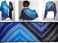 Crochet pattern Mach2 - rectangular shawl