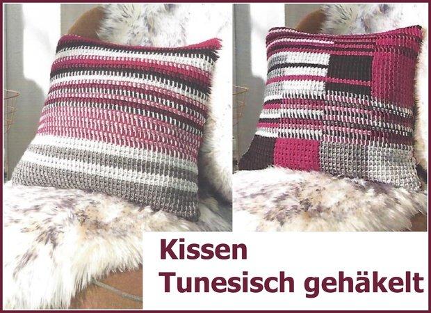 Kissen Basic Tunesisch Häkeln