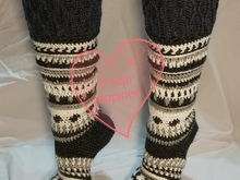 Polar Night - Crocheted socks