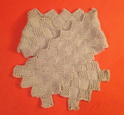 strickanleitung elegante schal mit karo muster unisex - Schal Muster