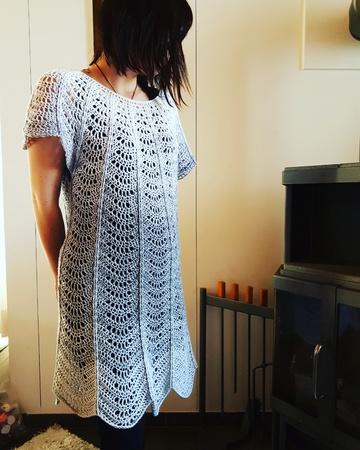 Tunika Häkeln Damen Tunika Mini Kleid