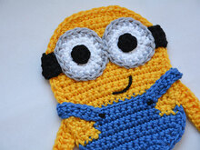 Minion Aufnäher / Applikation / Patch Häkelanleitung