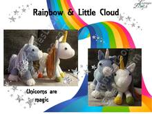 "Einhorn ""Rainbow"" und ""Little Cloud"""