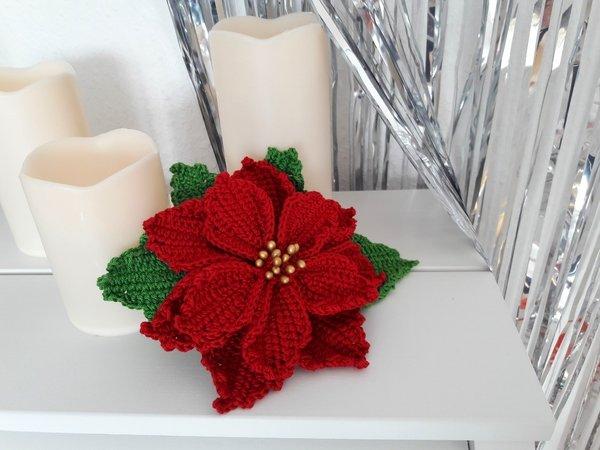 Poinsettia Häkeln Weihnachtsstern Häkeln
